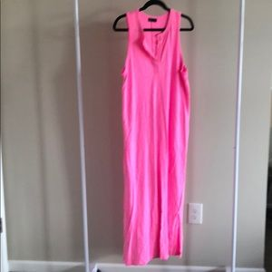 Gap pink maxi dress